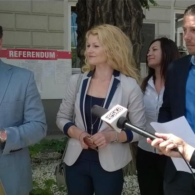 Konferencja prasowa SLD, Kielce, 08.06.2016